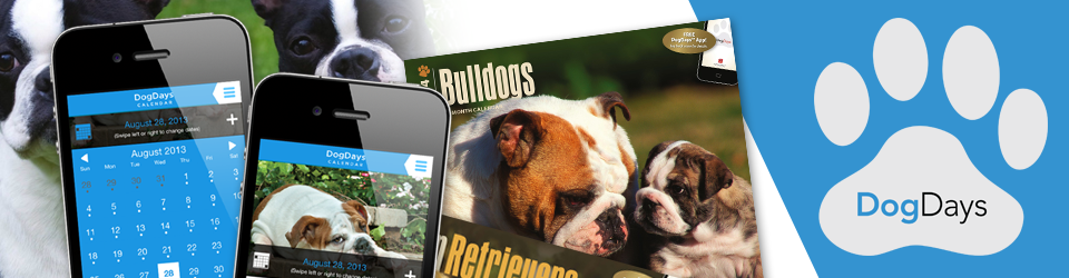 DogDays 2021 Calendar and Puzzle App for iPhone, iPad, Android and Android Tablet