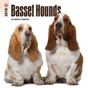 Basset Hounds 2018 7 X 7 Inch Monthly Mini Wall Calendar