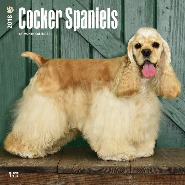 Cocker Spaniels 2018 12 X 12 Inch Monthly Square Wall Calendar