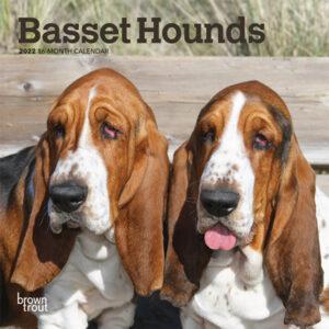 Basset Hounds 2022 7 x 7 Inch Monthly Mini Wall Calendar, Animals Dog Breeds DogDays